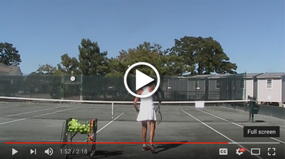 5 min slice serve exercise