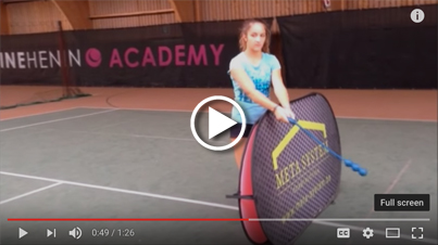 Justine Henin Academy uses the ServeMaster
