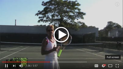 Racket move from left to right and forward