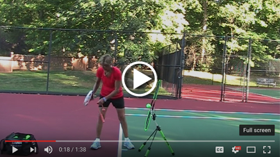Topspin forehand in 2 minutes (ServeMaster/TopspinPro)