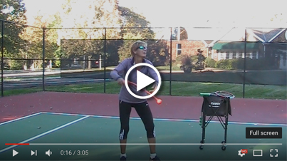 abbreviated serve motion practice with ServeMaster