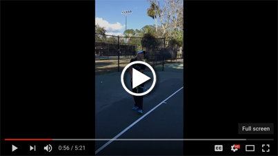 Working on the serve toss with WTA player, Alexa Glatch